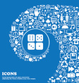 Dices icon sign Nice set of beautiful icons vector image
