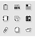 Document Office Icons as Labes vector image vector image