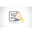 ea creative modern logo design with orange and vector image vector image