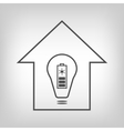 Eco house with solar battery as energy source vector image vector image
