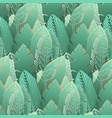 elegant pattern with tender green tropical leaves vector image vector image