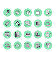 finance money loan flat line icons set quick vector image vector image