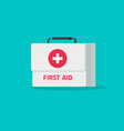first aid kit isolated flat vector image vector image