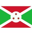 Flag of Buregundi vector image vector image