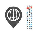 globe map marker icon with free bonus vector image