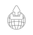 globe with upload symbol icon vector image vector image