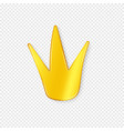 golden crown with shadow on a transparent vector image