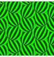 Green striped circles pattern vector image vector image