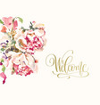 greeting card wedding invitation with hand vector image