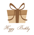 Happy birthday with brown colorful gift box on a vector image vector image