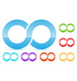 infinity symbol in several color icon for vector image