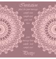Invitation card with delicate crochet ornament vector image vector image