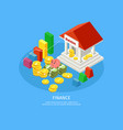 isometric financial elements concept vector image