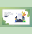 landing page template news letter modern flat vector image vector image