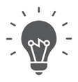 light bulb glyph icon e learning and education vector image vector image