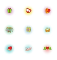 Love of mother icons set pop-art style vector image vector image