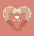 Love Shrimp vector image