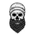 lumberjack skull in tattoo style isolated on vector image vector image