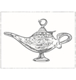 Magic arabic lamp for holy month of muslim vector image vector image