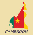map of cameroon with the image of the national vector image vector image
