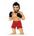 mma fighter man in fighting stance vector image