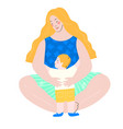 mother and child art vector image