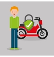 motorcycle insurance concept icon vector image vector image