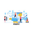 people holding money financial savings profit vector image vector image
