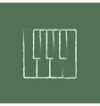 Piano keys icon drawn in chalk vector image vector image