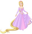 princess Rapunzel vector image vector image