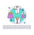 pupils clothing article page template boys girls vector image vector image