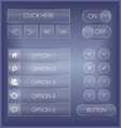 Purple interface buttons and icons set vector image vector image