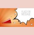 red old loudspeaker in pop art style on halftone vector image