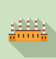 refinery oil factory icon flat style vector image