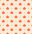Retro seamless pattern Orange maple leaves vector image vector image