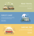 rv camping banners car summer trip backgrounds vector image vector image