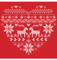 Scandinavian Nordic winter stitch knitting vector image vector image