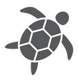 sea turtle glyph icon animal and underwater vector image vector image