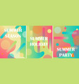 set of 3 abstract backgrunds liquid color vector image vector image