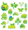 set of environmental icons vector image