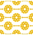 Set of Yellow Bones Seamless Pattern vector image vector image