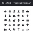 set simple icons thanksgiving day vector image vector image