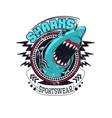 sharks sportswear vector image vector image