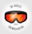 snowboard or ski goggles vector image vector image
