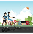 Students Cycling vector image vector image