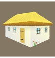 Ukrainian hut image vector image vector image