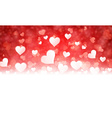 Valentines background with hearts vector image vector image