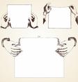 Vintage Hands vector image vector image