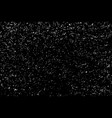 white grainy texture isolated on black background vector image vector image