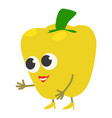 yellow pepper icon cartoon style vector image